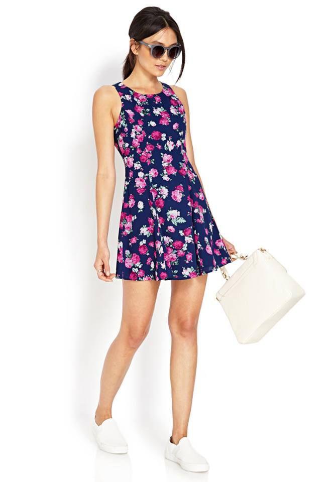 4b5883b084aa vestido de flores corto.♥ | Style | Vestido de flores cortos ...