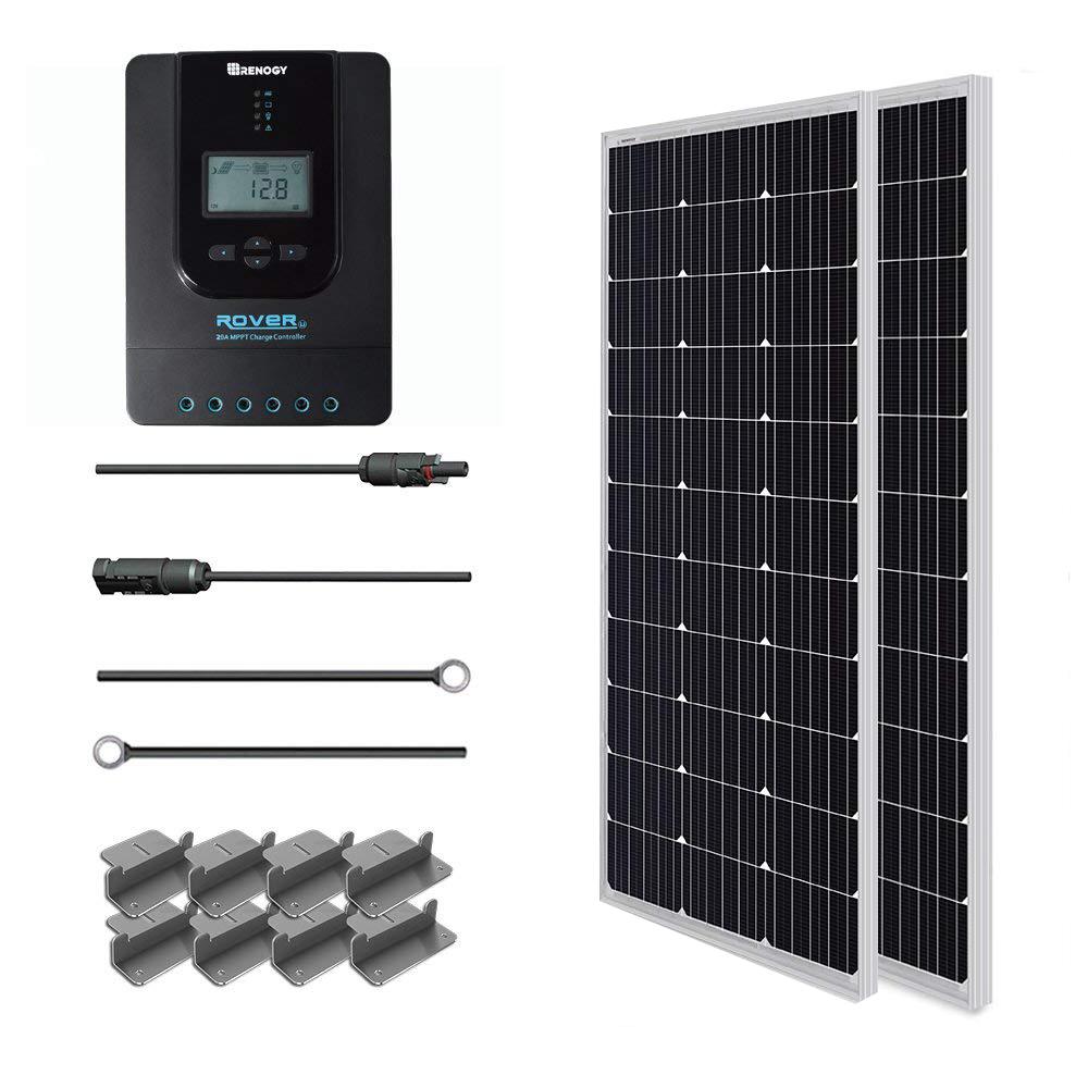 200 Watt 12 Volt Monocrystalline Solar Starter Kit Solar