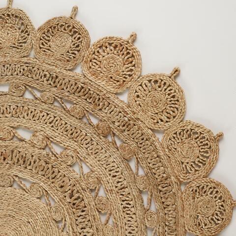 5' round handwoven jute rug