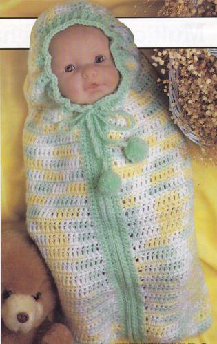 Crochet Pattern Baby Bunting Snuggle Sack Instructions Crochet