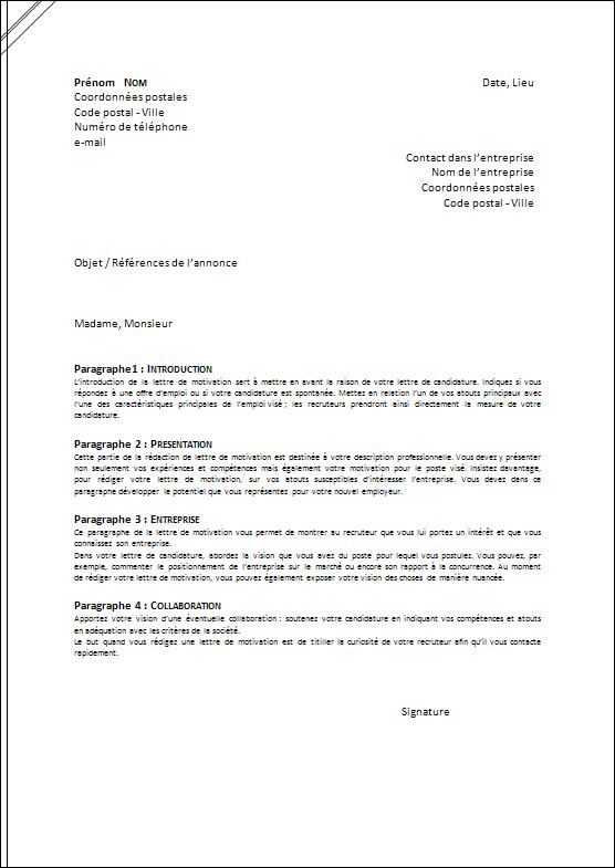 La Lettre De Motivation Job Letter Cover Letter For Resume Job Coaching