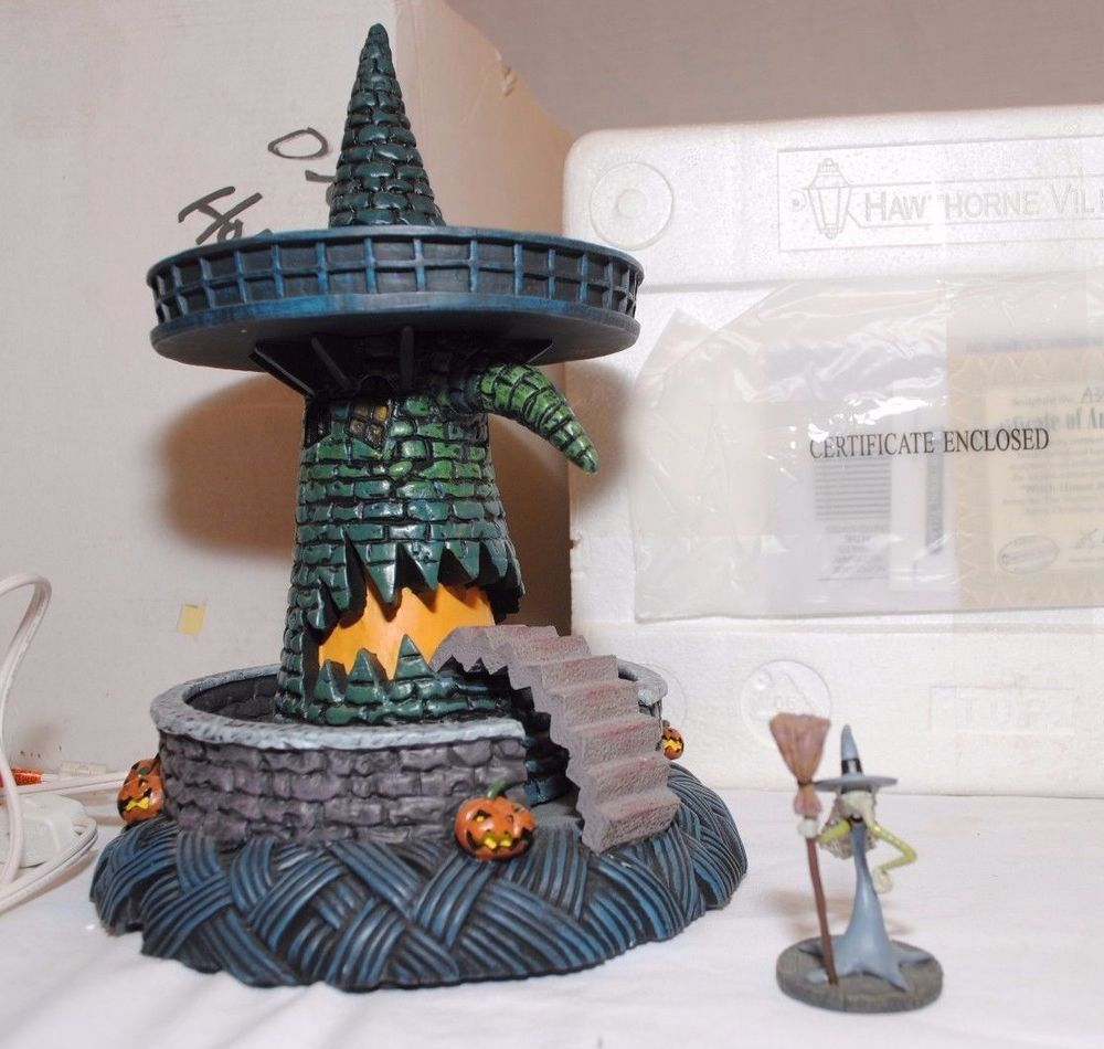 Nightmare Before Christmas Hawthorne Village Witch House w/ Witch ...