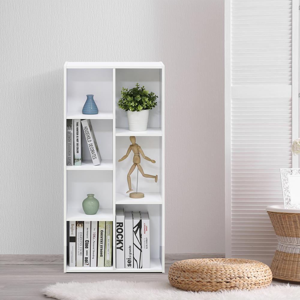 White 7-Cube Reversible Open Shelf | Open shelves and Products