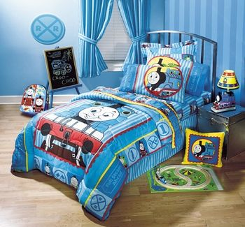 THOMAS AND FRIENDS Kids and Preschool Bedding | Train bedding set