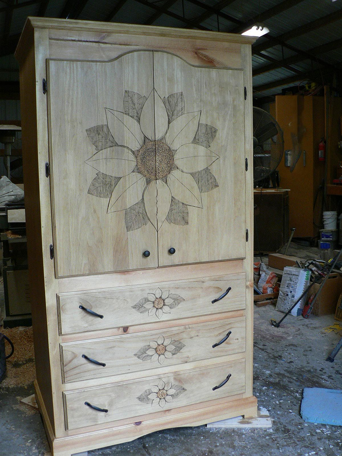 Custom pine wood cabinet by Custom Country Furnishings, contact Justin or Bill at sheppard's for more details.