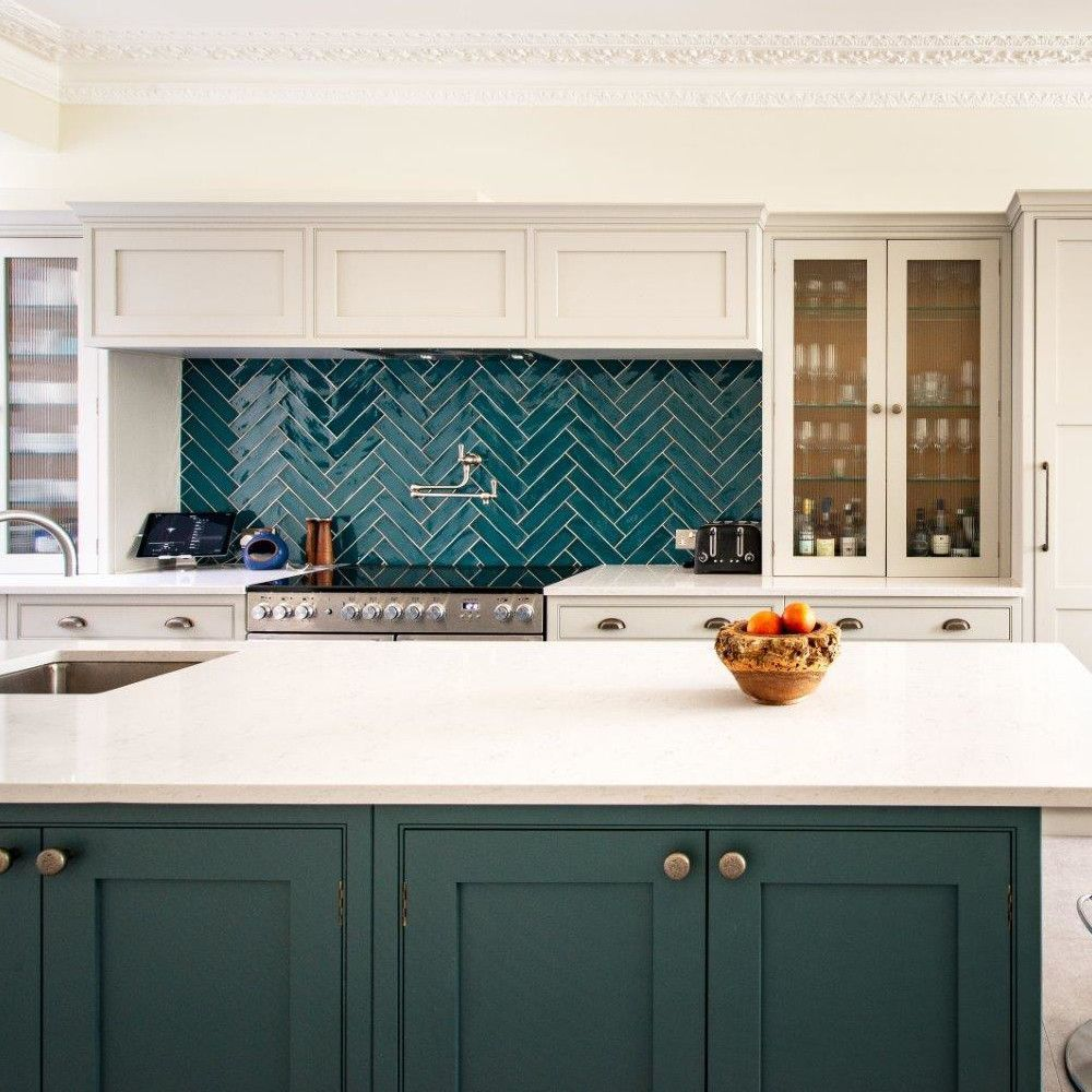 Best Inchyra Blue Island Bluegreykitchens Kitchen Remodel 400 x 300