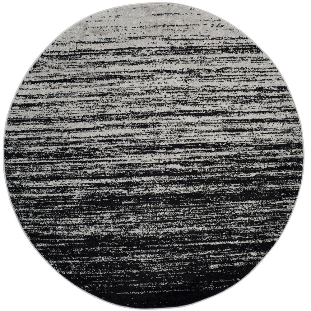 Safavieh Adirondack Silver Black 4 Ft X 4 Ft Round Area
