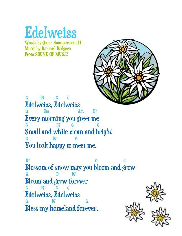 Edelweiss, a Beautiful, Illustrated Song | SBWE Sing with Me ...