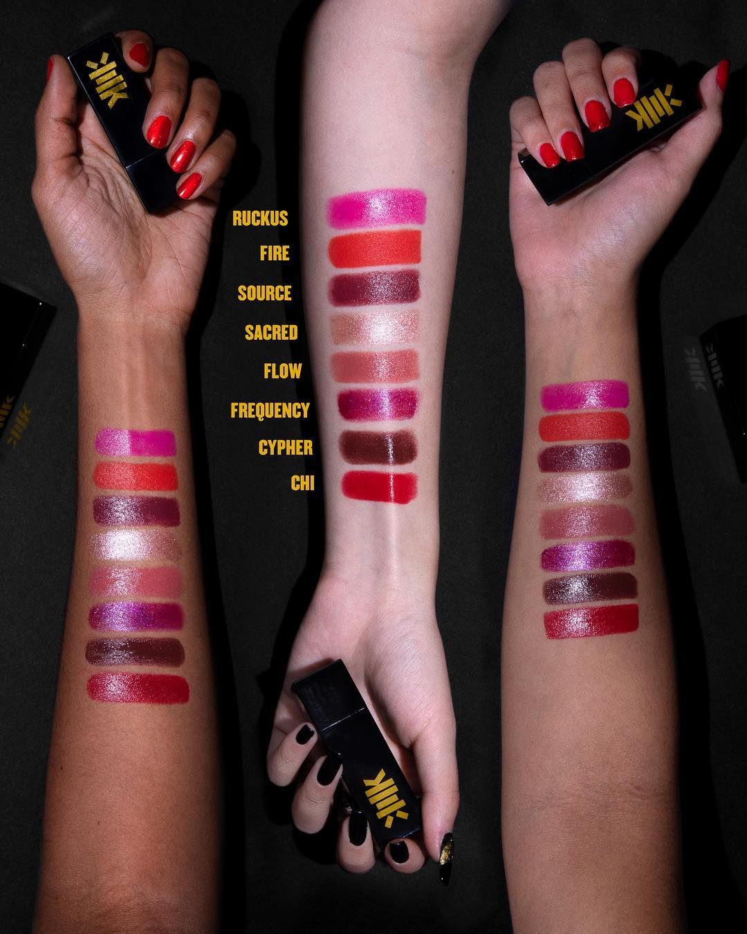 Which wutangxmilkmakeup Lip Color are you vibin' with