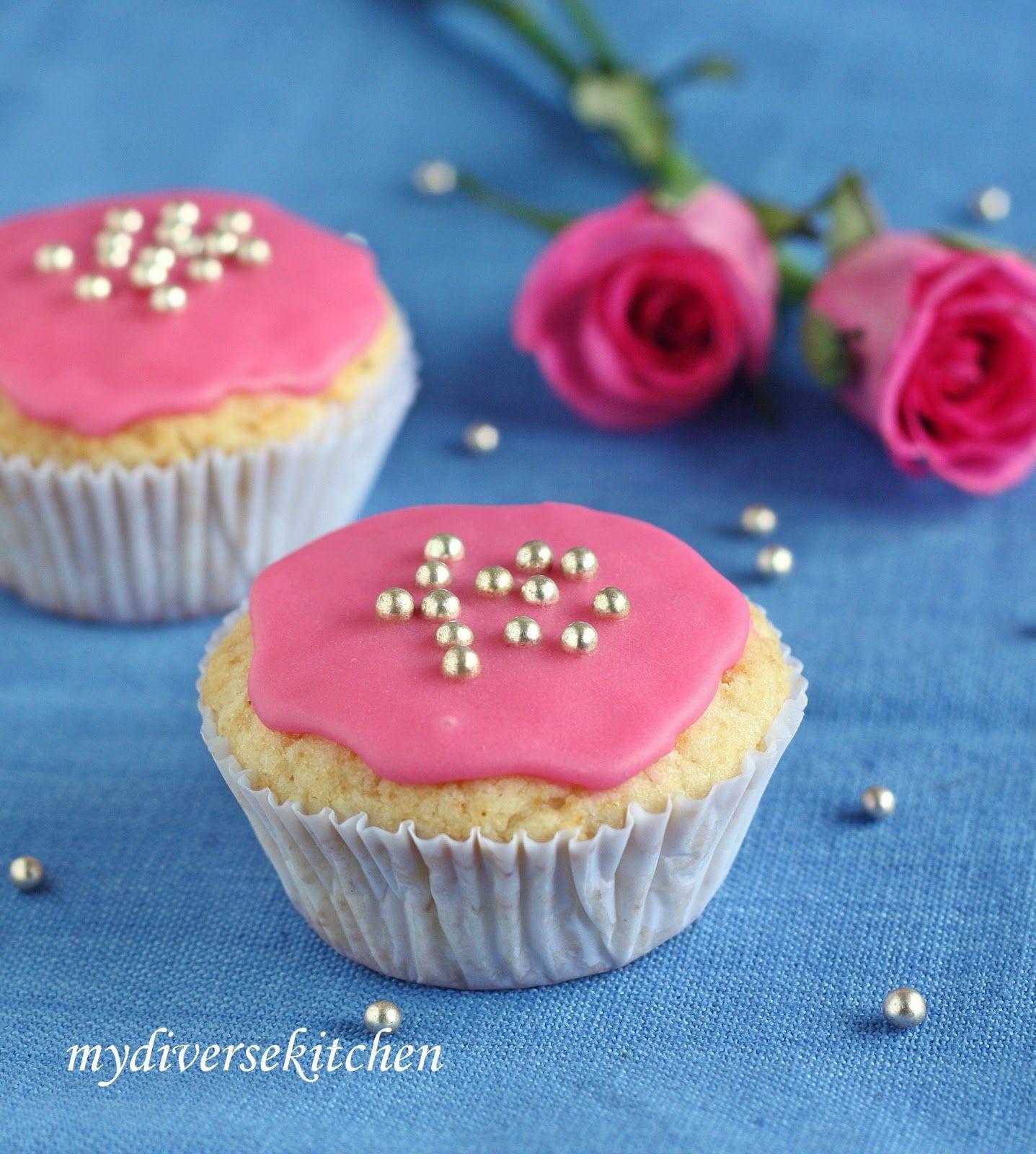 Pretty Pink Eggless Birthday Cupcakes | Recipe | Pinterest