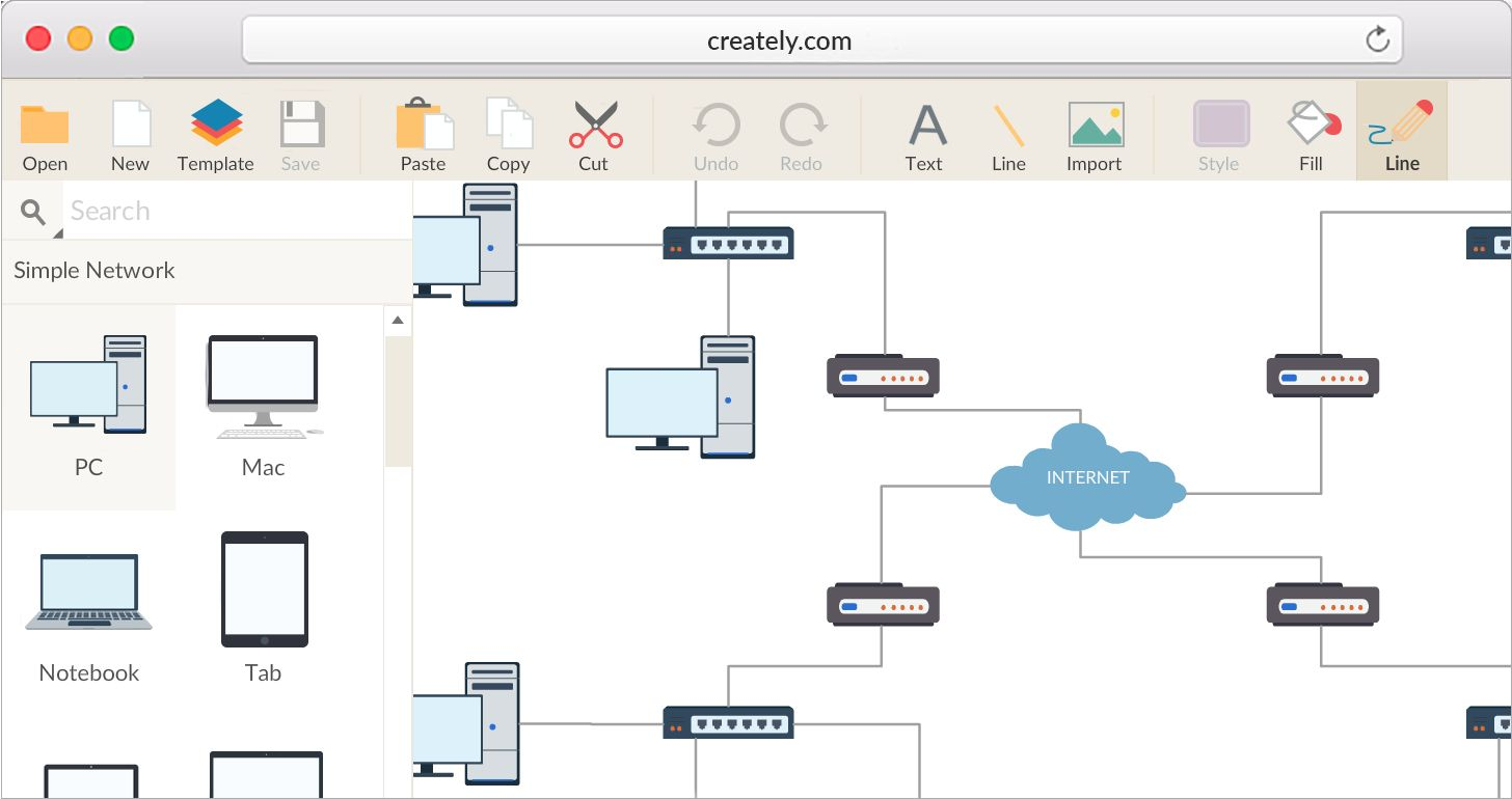 Network Diagram Software Free Online.Network Diagram Software To Quickly Draw Network Diagrams