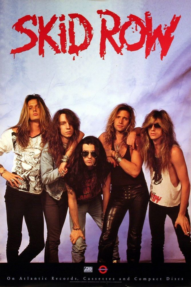 Skid Row 1989 Debut Album Original Promo Poster Link To Rock On Collectibles