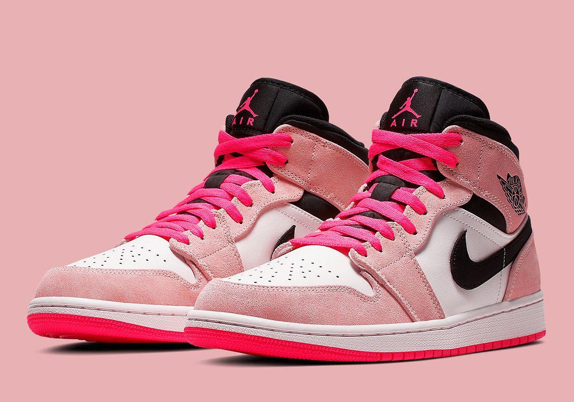 e159160e6fb8 Jordan 1 Mid Crimson Hyper Pink 852542-801 Info  thatdope  sneakers  luxury   dope  fashion  trending