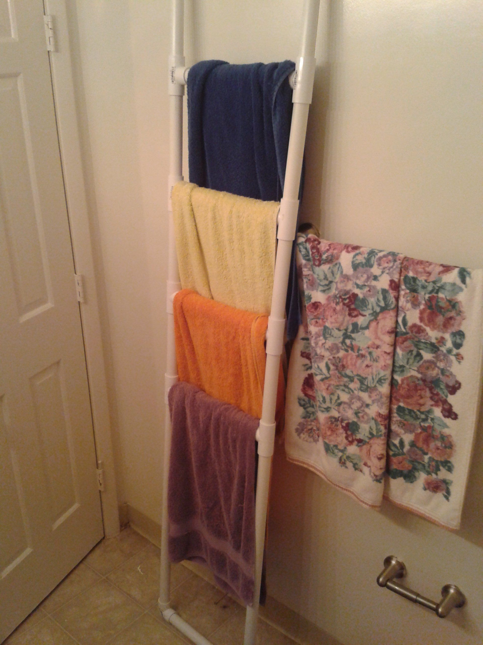 Towel Rack Pvc If Not Glued Comes Apart Easy Free Standing