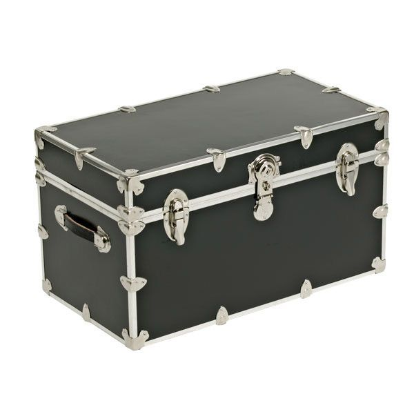Unlike Other Trunks Constructed From Pressboard And Vinyl, Our Premium  Locking Trunk With Wheels Is