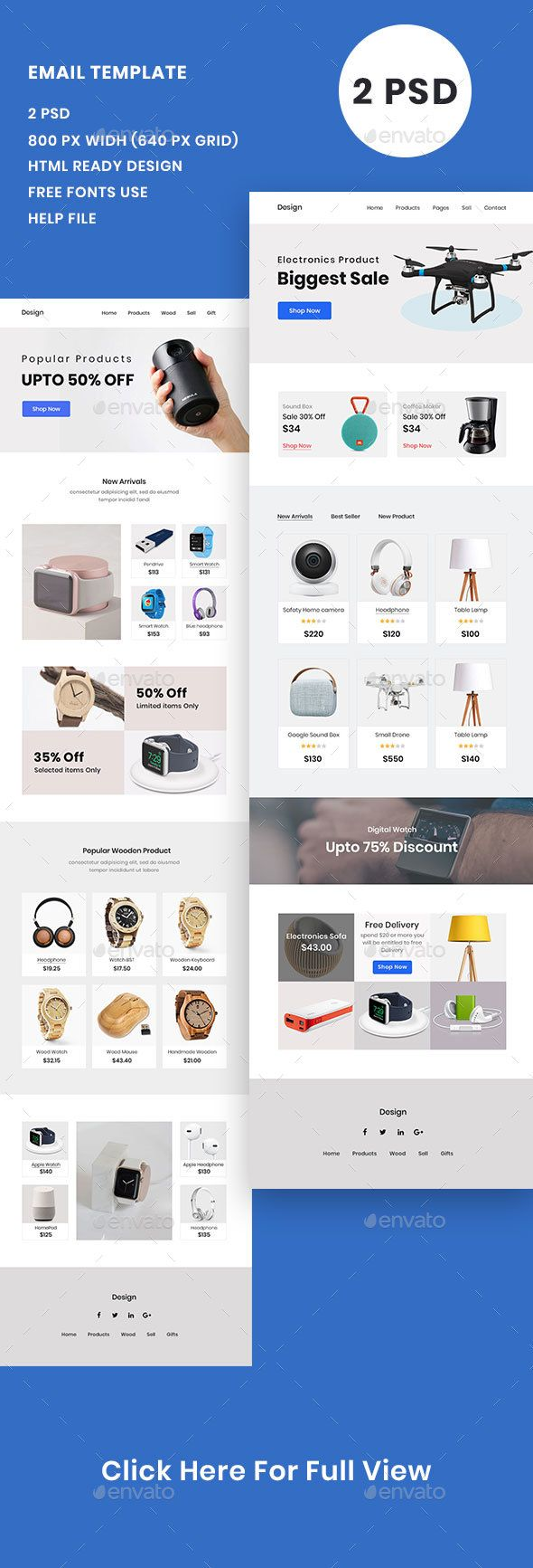 E Commerce Product Email Template Psd E Newsletter Templates