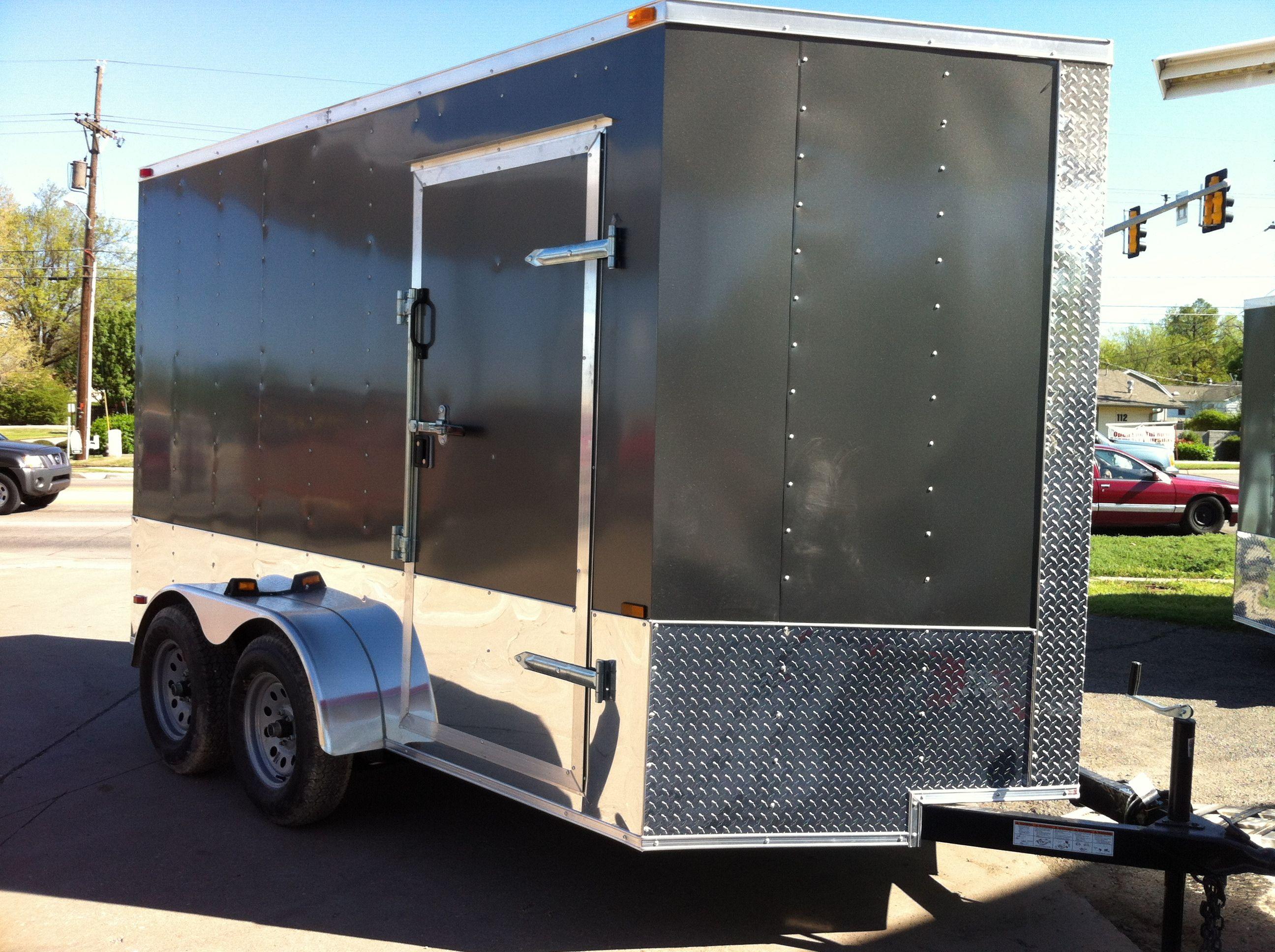 7 x 14 plus V- nose Lark enclosed cargo trailer Tandem axle www ...