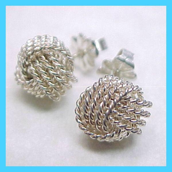 Tiffany Inspired Twist Knot Earrings
