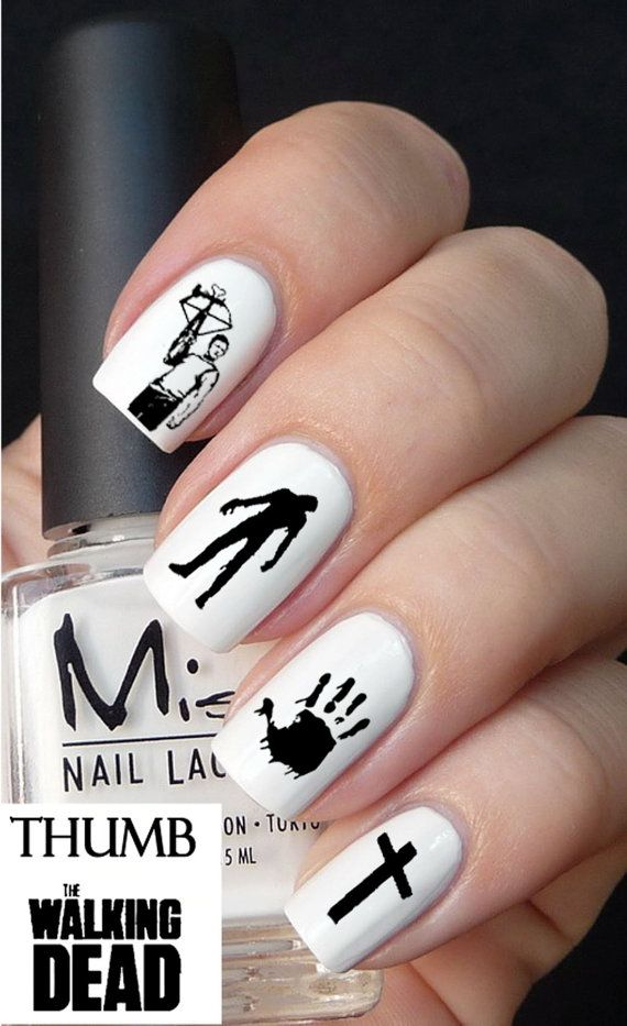 Walking Dead Nail Decal 50pc by DesignerNails on Etsy | N A I L S ...