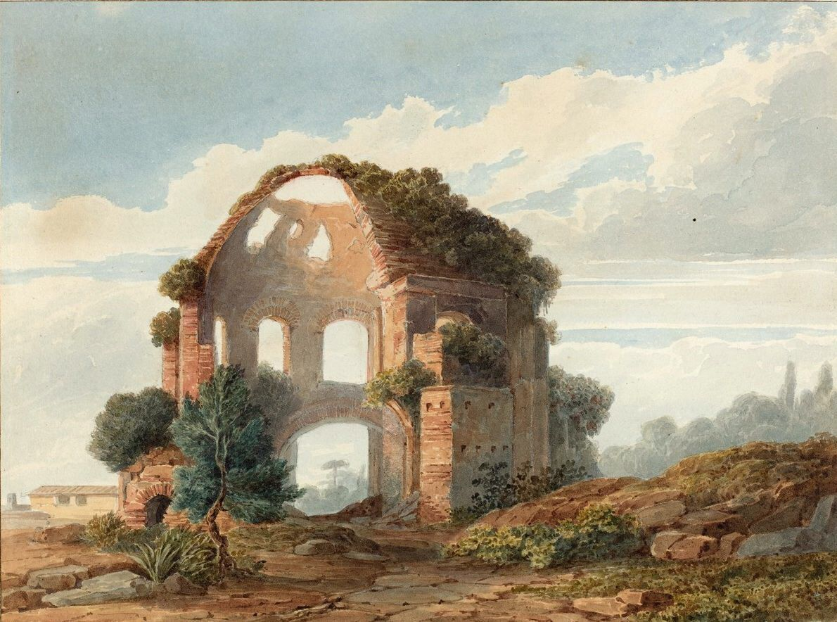 French 18th Century - The Temple of Minerva Medica