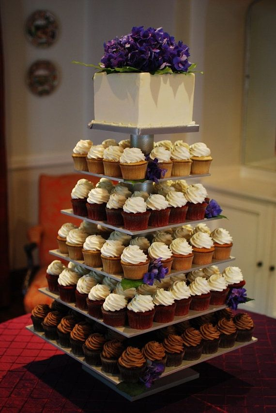 square cupcake wedding cake 6 tier square custom made cupcake stand holds up to140 20361