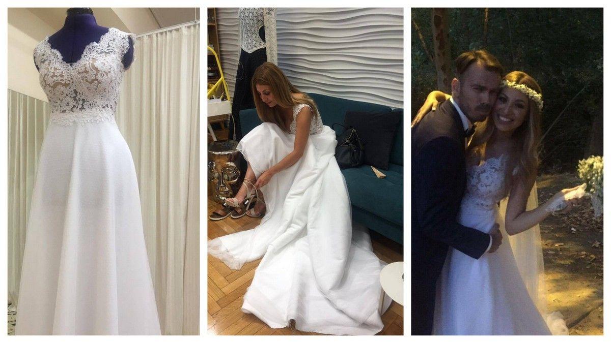 Ακόμα μία αγαπημένη μας νύφη, ακόμα μία μοναδική ιστορία <3 #weddingdress #weddingdressfitting #realbride #bridal #meglam #customdesign #handmade