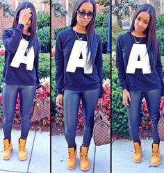 swag tumblr outfits timberland - Google Search | Things to Wear ...