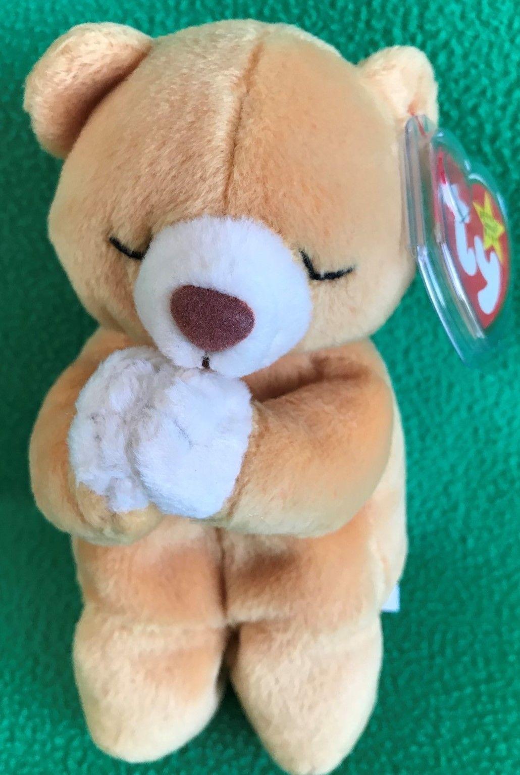 Ty Beanie Baby Hope Praying Bear MWMT 1998 7 Vintage Stuffed Animal Gift aaecf02d2462