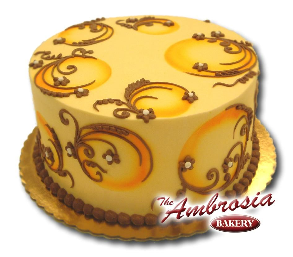 Neat use of airbrush with piped buttercream Cakes I Love