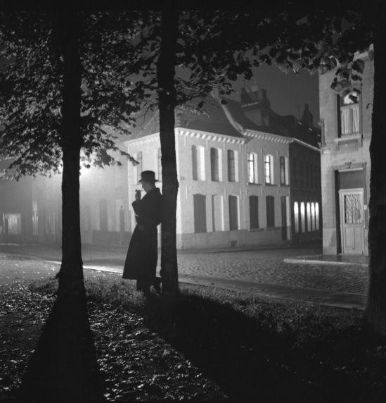 Parc de Mons la nuit - 1938, Marcel G. Lefrancq