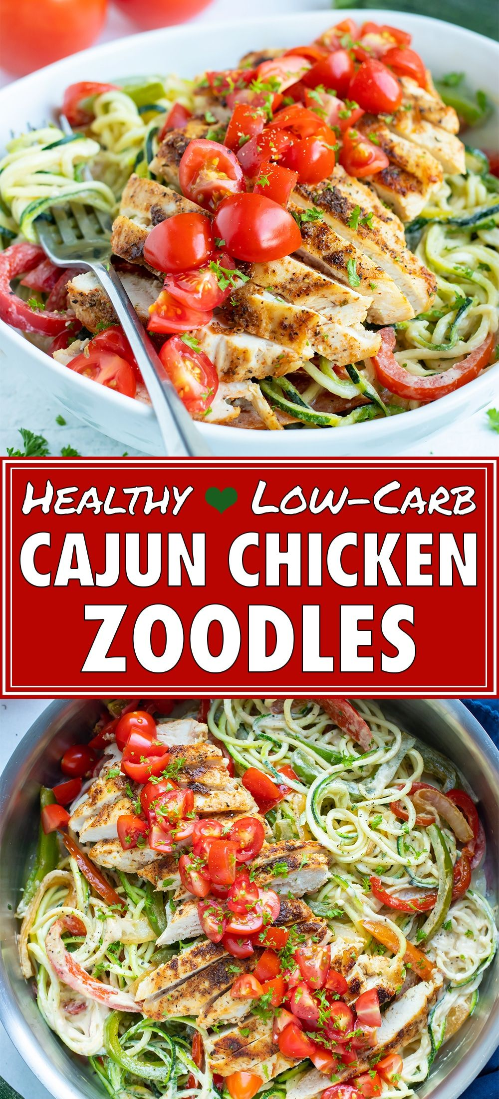 Photo of Cajun Chicken Zucchini Noodles (Low-Carb & Whole30) – Evolving Table