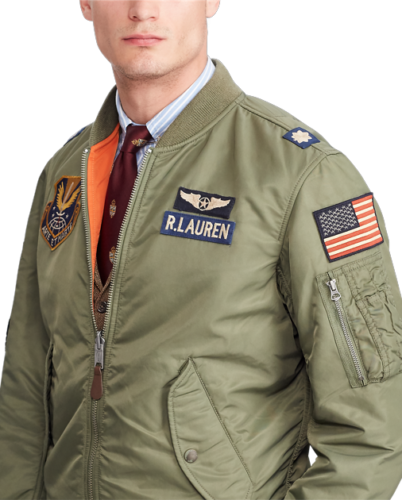 e0f5f1ab331 Polo-Ralph-Lauren-Men-MA-1-Military-USA-Flag-Army-Air-Force-Flight-Bomber- Jacket