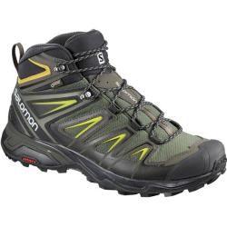 Photo of Salomon men's hiking shoes X Ultra 3 Mid Gtx®, size 44? in Castor Gray / Black / Green Sulfur, size