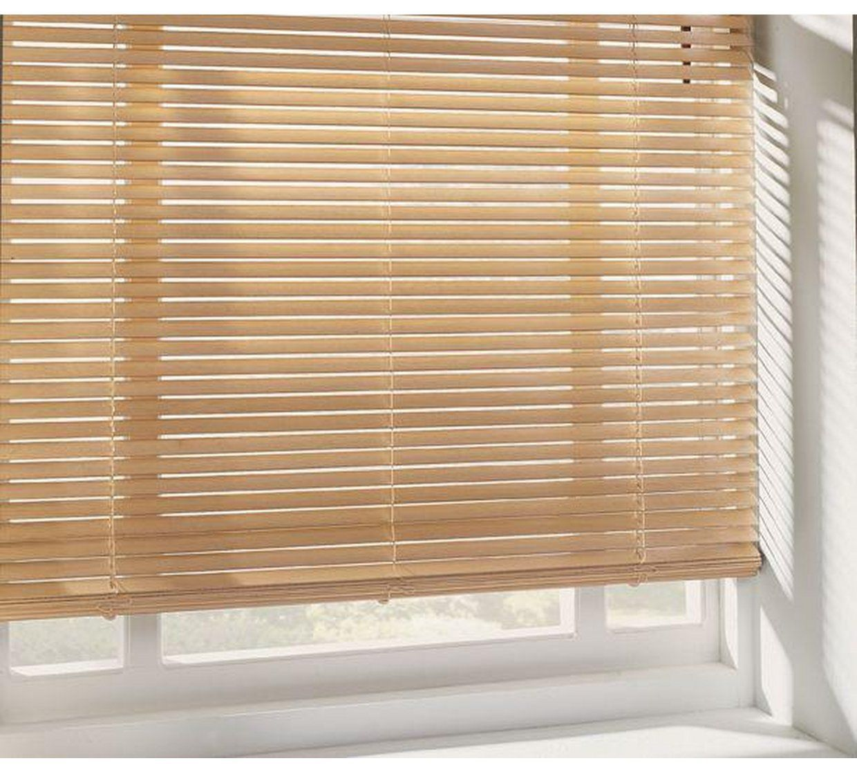 Buy home wooden venetian blind ft natural at argos your