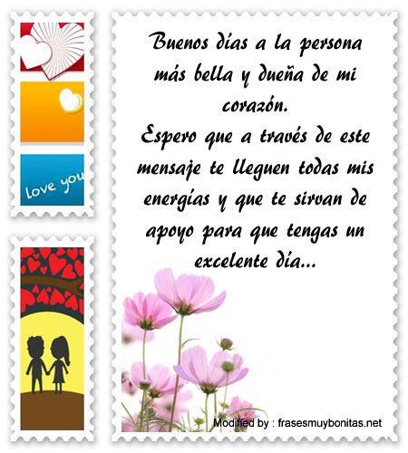Mensajes De Buen Día Para Tu Amor Saludos De Buenos Dias A Mi Amor Frasesmuybonitas Net Mensaje De Amor Para Novio Mensajes De Buenos Dias Mensajes De Amor