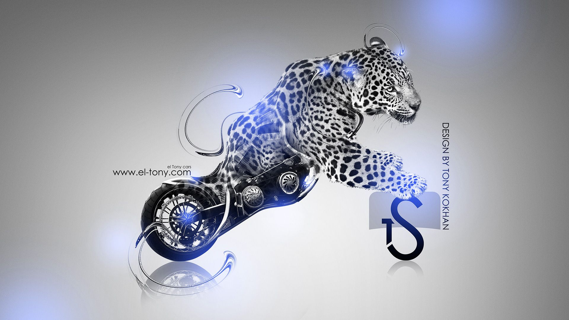 Marvelous Wallpaper Blue Neon Tigers | Harley Davidson Fantasy Tiger 2013 Yamaha Vmax  Tiger Plastic Bike 2014