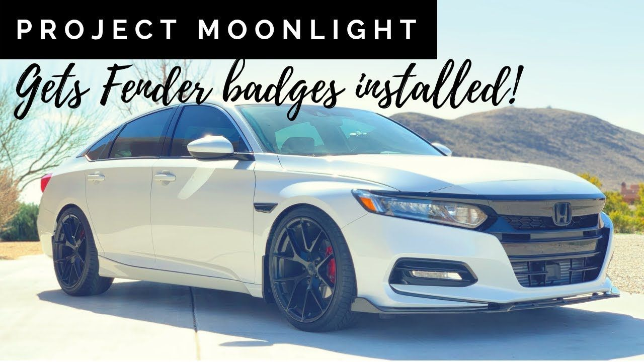 Installing the blacked out Accord fender emblems on a 2018
