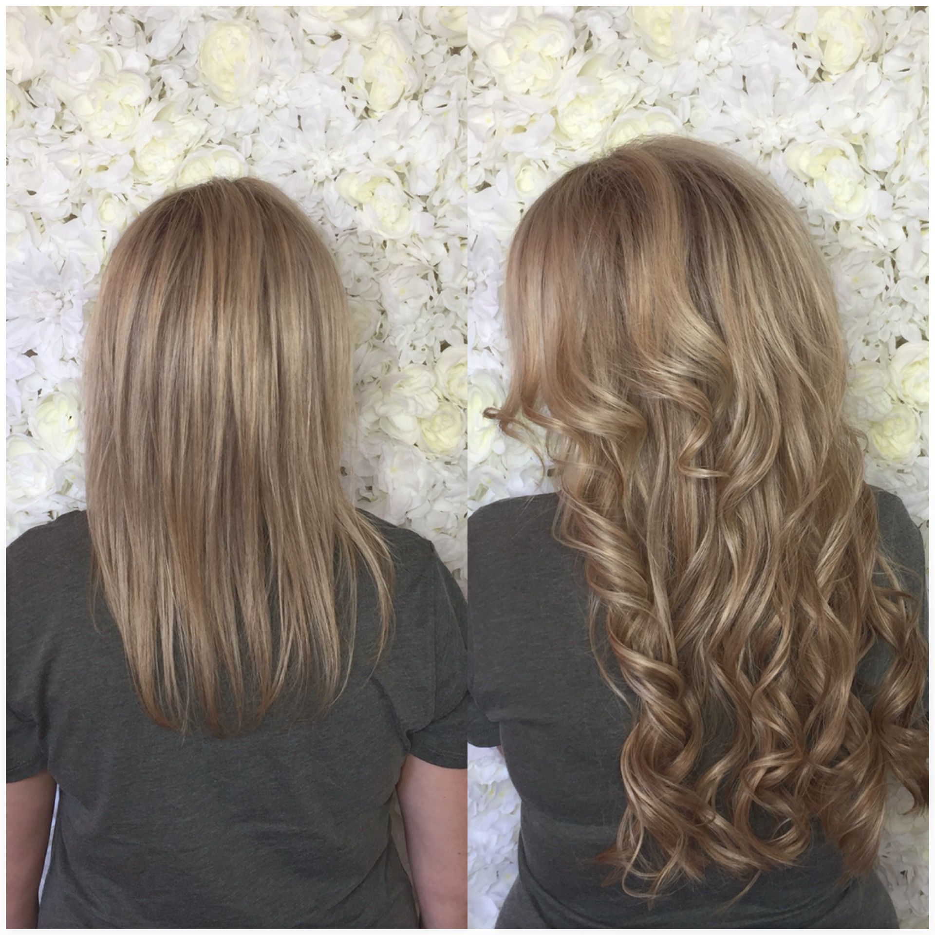 Before And After Tape In Extensions Details You Can Swim Color