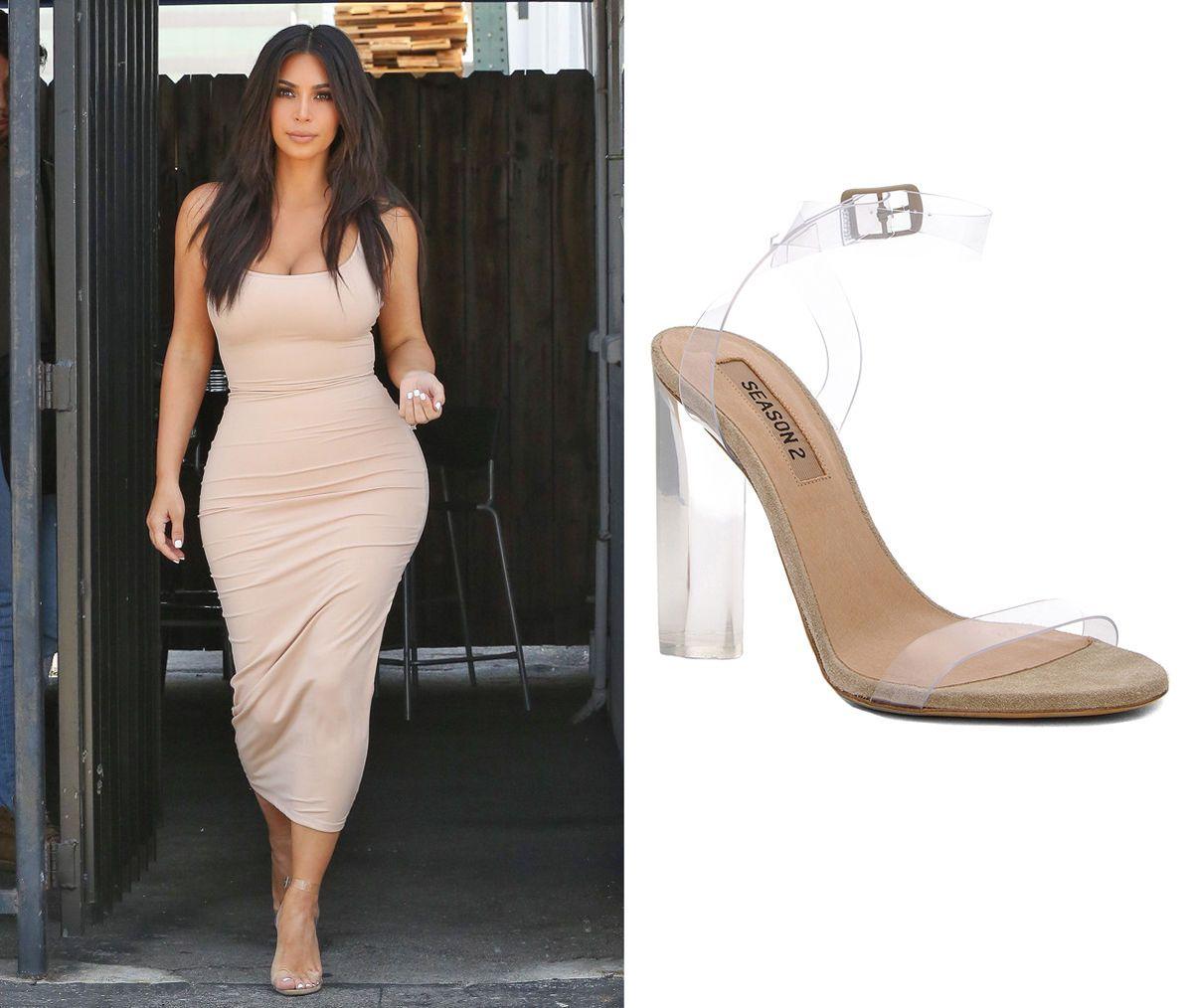 5b57c58358 Kanye West Yeezy Season 2 Lucite Kim Kardashian Shoes Sandals 38 5 8 5 Heels  | eBay