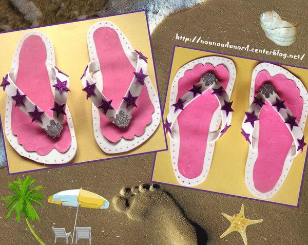 Bien-aimé Lison a réalisé des belles tongs rose | bricolage enfant  HZ63