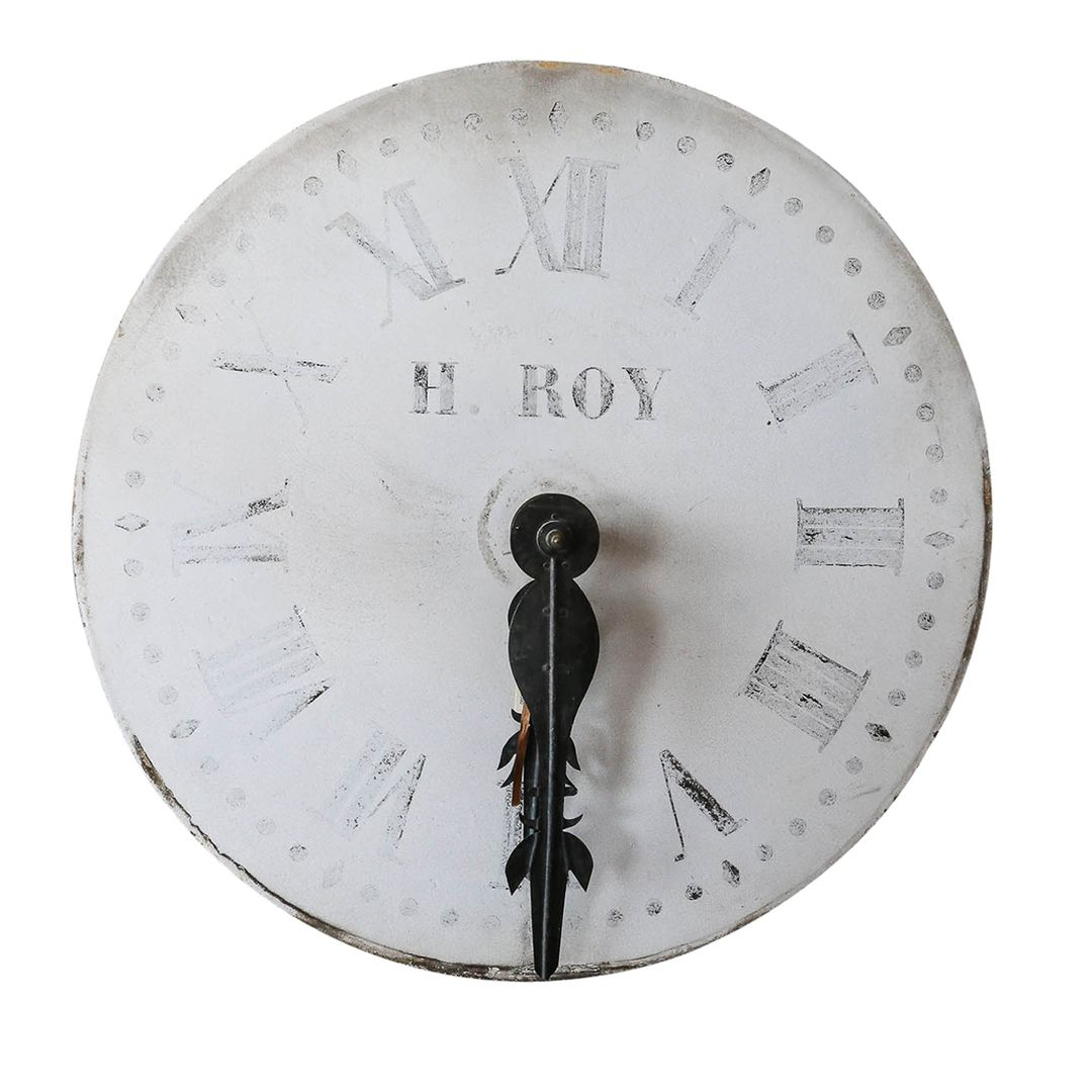 Authentic 19th c. Clockface from a Church in Amiens, France