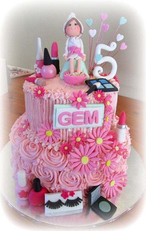 Pamper Party Cake Pamper Party Spa Birthday Parties Kids Spa Party