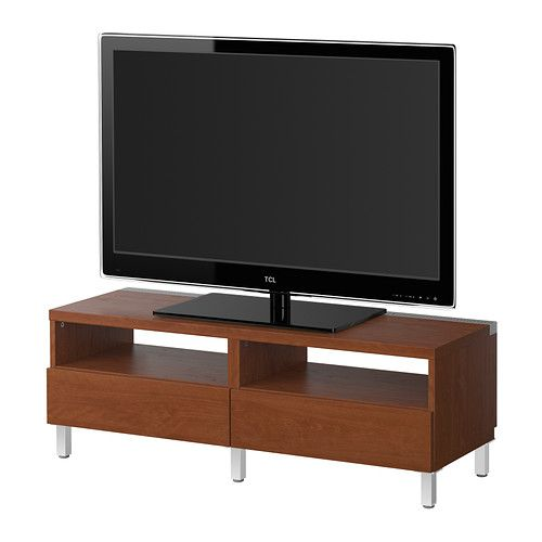 ikea best tv bench with drawers vara medium brown built in cable management keeps cables. Black Bedroom Furniture Sets. Home Design Ideas