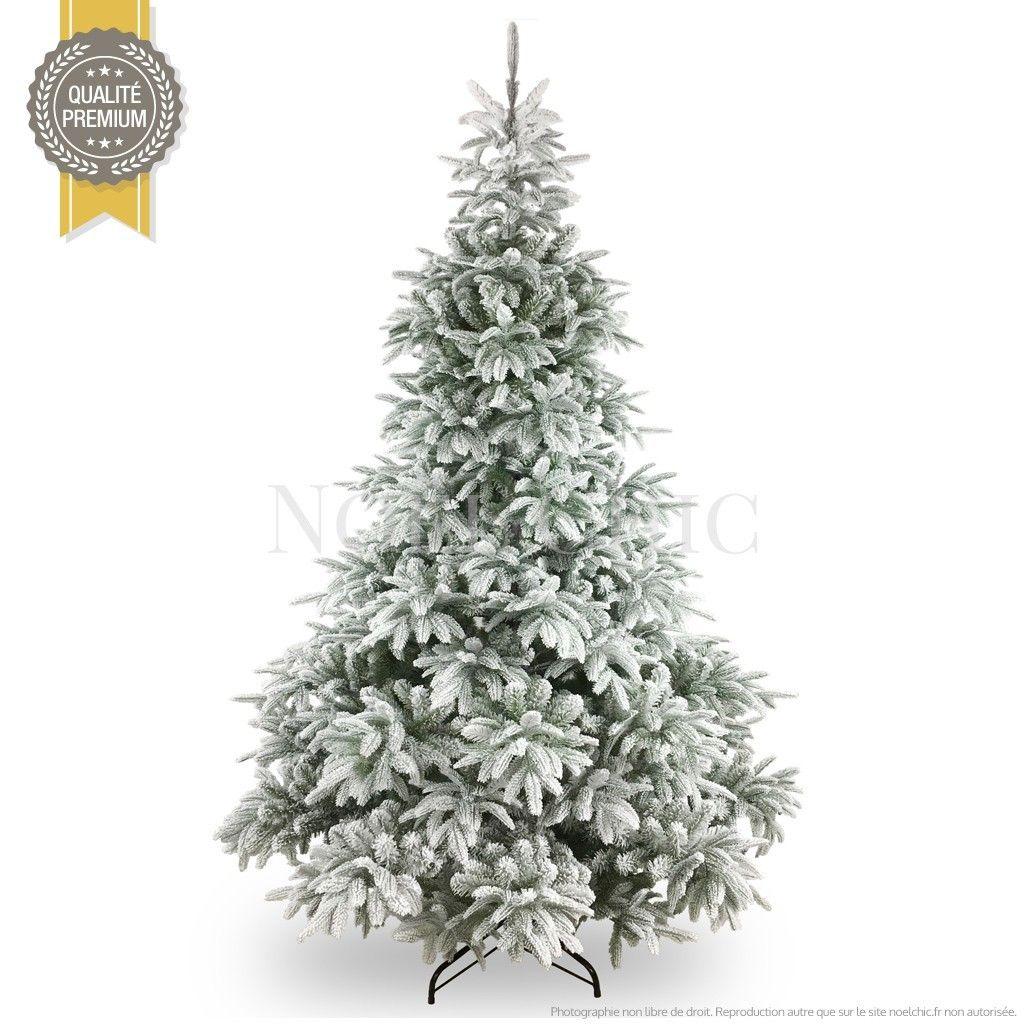 Magnifique sapin artificiel   Sapin de Noël enneigé FORET BLANCHE
