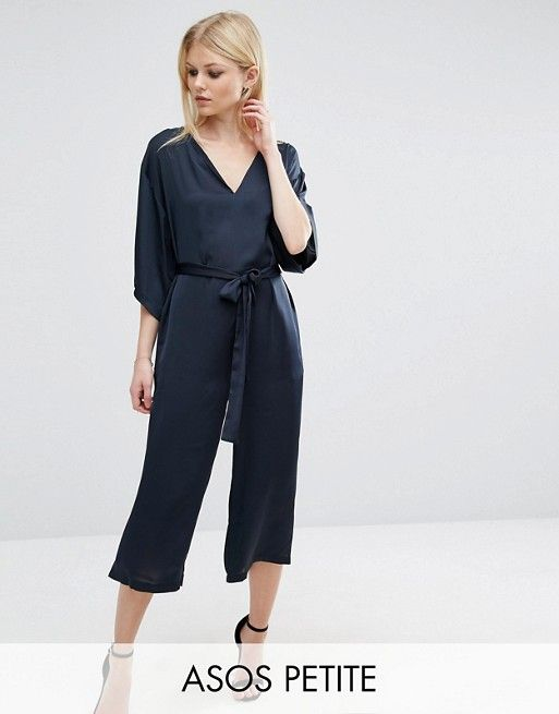7e747d88a76 PETITE Belted Jumpsuit with Kimono Sleeve