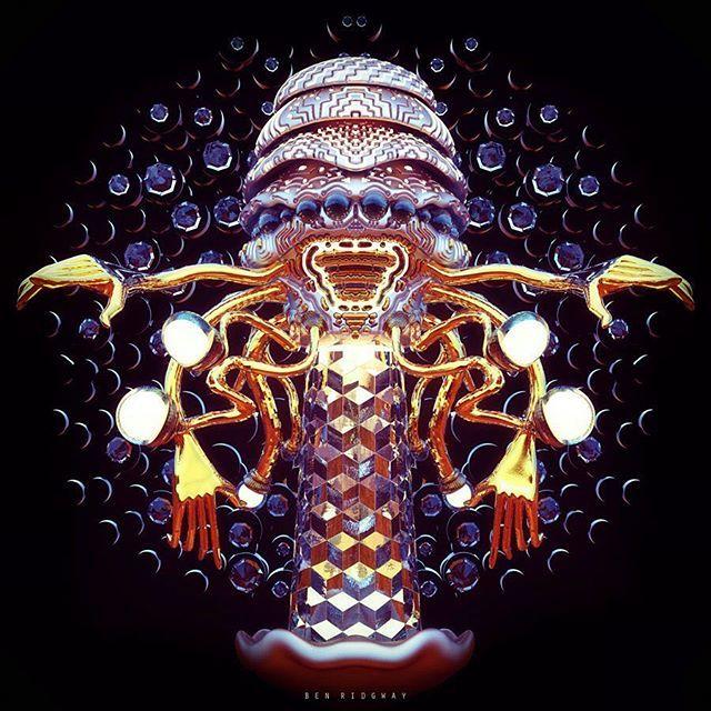 CUBETRIXX . Ben Ridgway #innerspace #3d #keyshot #zbrush #psy #glow #symmetry