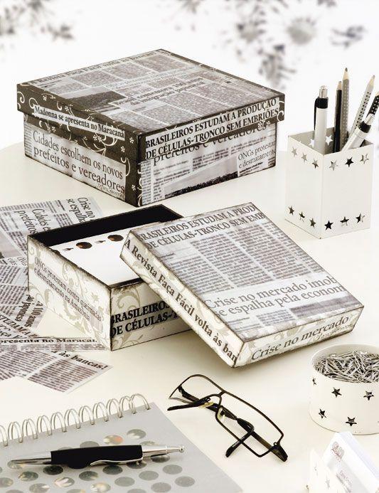 Passo A Passo De Caixa Com Decoupage Jornal Caixa Decoupage