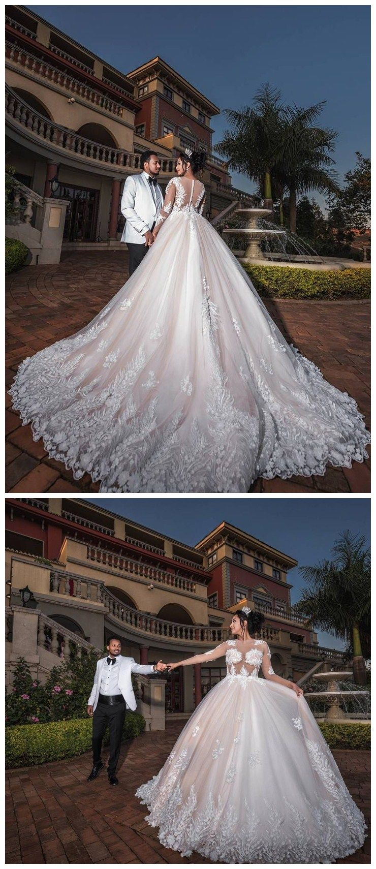Long sleeve ivory wedding dress  Excellent Tulle Jewel Neckline Plus Size Ball Gown Wedding Dresses