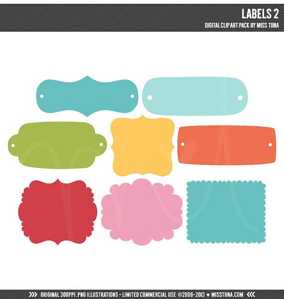 labels 2 digital clipart clip art illustrations instant download rh pinterest com