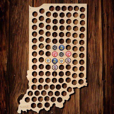 Indiana Beer Cap Map Pinterest Beer Caps And Cap - Indiana beer cap map